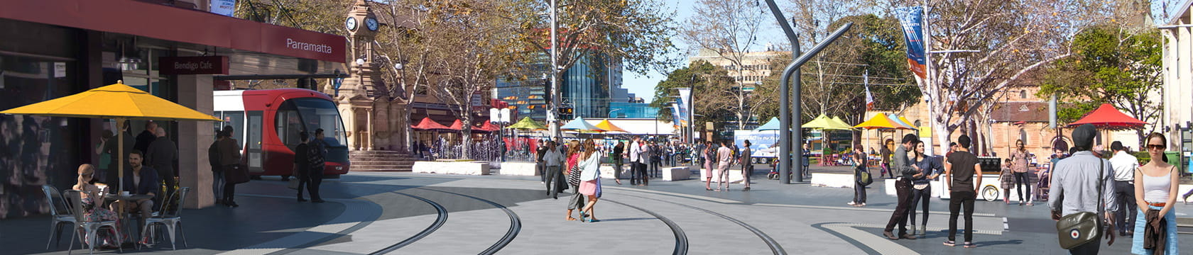 Parramatta Light Rail Centenary Square