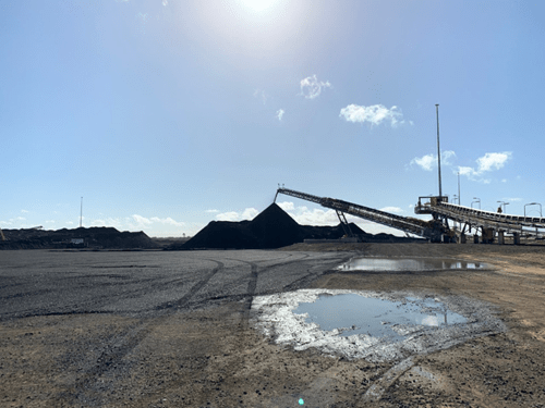 Success at Byerwen page image Coke Stockpile