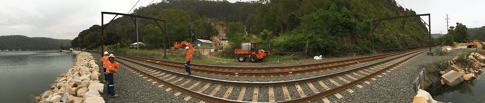 working on rail track